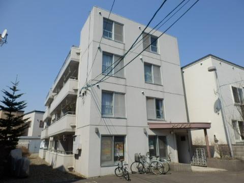 北海道札幌市中央区、西線11条駅徒歩10分の築27年 4階建の賃貸マンション