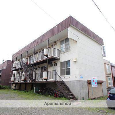 北海道江別市、野幌駅徒歩28分の築29年 3階建の賃貸アパート