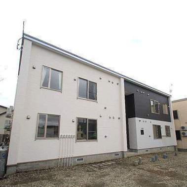 北海道江別市、野幌駅徒歩18分の新築 2階建の賃貸アパート