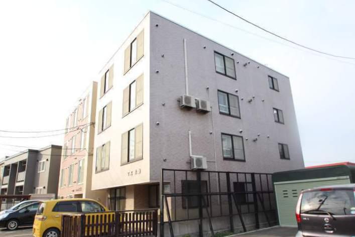北海道江別市、野幌駅徒歩10分の築16年 4階建の賃貸マンション