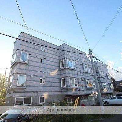 北海道江別市、大麻駅徒歩15分の築24年 3階建の賃貸アパート