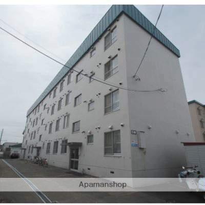北海道江別市、大麻駅徒歩12分の築47年 4階建の賃貸マンション