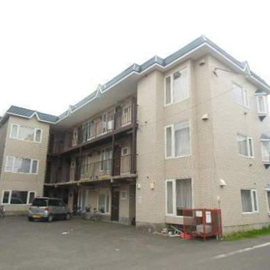 北海道江別市、野幌駅徒歩22分の築26年 3階建の賃貸アパート