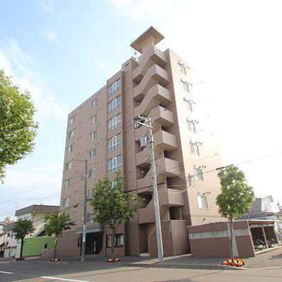 北海道江別市、野幌駅徒歩4分の築17年 8階建の賃貸マンション