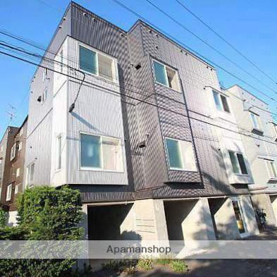 北海道江別市、野幌駅徒歩5分の築23年 3階建の賃貸アパート