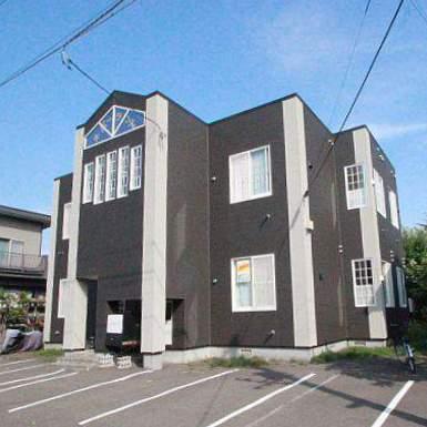 北海道江別市、野幌駅徒歩13分の築23年 2階建の賃貸アパート