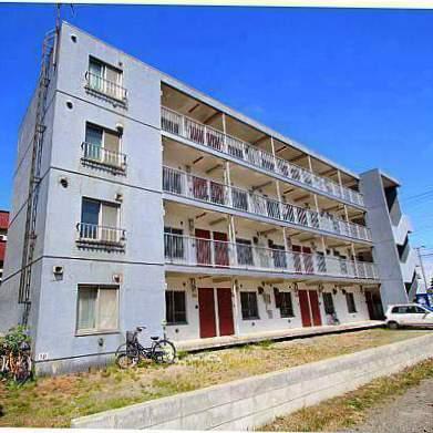 北海道江別市、江別駅徒歩8分の築33年 4階建の賃貸マンション