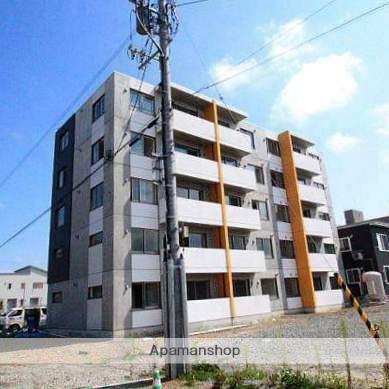 北海道江別市、野幌駅徒歩2分の築2年 5階建の賃貸マンション