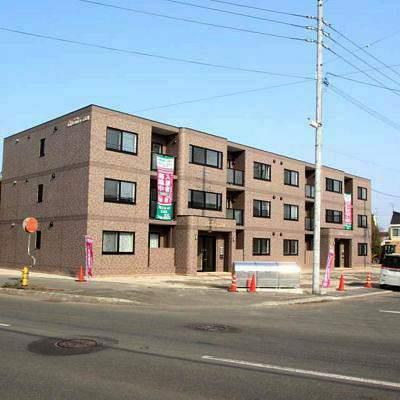 北海道江別市の新築 3階建の賃貸マンション