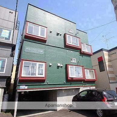 北海道江別市、大麻駅徒歩15分の築25年 3階建の賃貸アパート