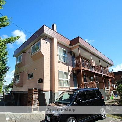 北海道江別市、野幌駅徒歩10分の築25年 3階建の賃貸アパート