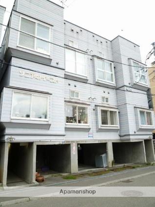 北海道札幌市東区、栄町駅徒歩2分の築23年 3階建の賃貸アパート