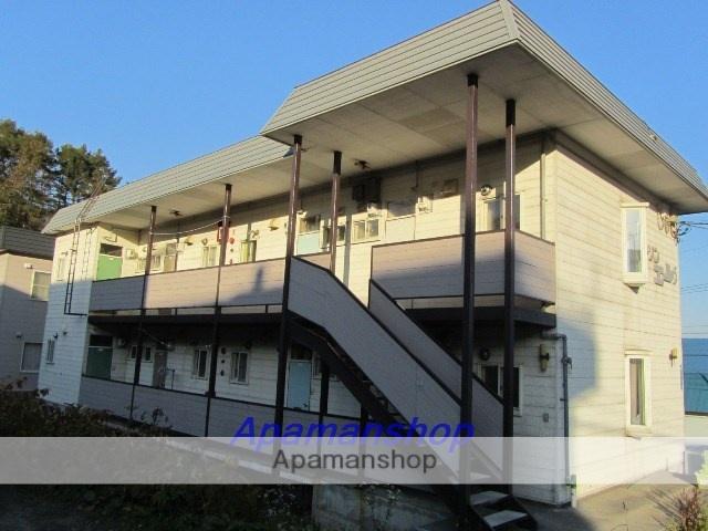 北海道小樽市、小樽駅中央バスバス14分からまつ公園下車後徒歩4分の築33年 2階建の賃貸アパート