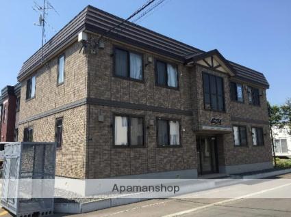 北海道札幌市北区、あいの里教育大駅バス15分北五番橋下車後徒歩12分の築9年 2階建の賃貸アパート