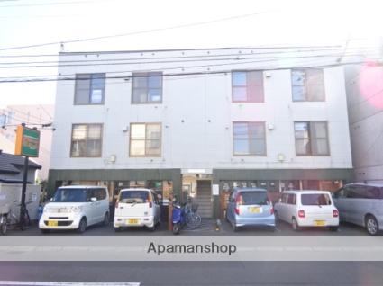 北海道札幌市北区、新琴似駅徒歩6分の築31年 3階建の賃貸アパート