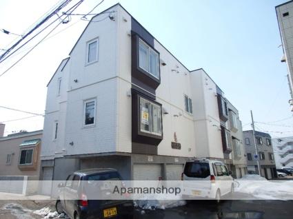 北海道札幌市東区、苗穂駅徒歩15分の築22年 3階建の賃貸アパート
