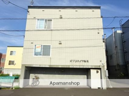 北海道札幌市北区、拓北駅徒歩2分の築20年 3階建の賃貸アパート