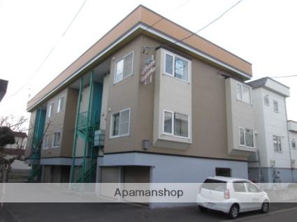 北海道札幌市北区、新琴似駅中央バスバス8分新琴似8条13丁目下車後徒歩3分の築30年 3階建の賃貸アパート