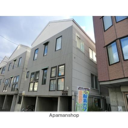 北海道札幌市東区、栄町駅徒歩5分の築20年 3階建の賃貸アパート