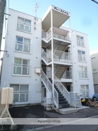 北海道札幌市北区、新川駅徒歩2分の築26年 3階建の賃貸アパート