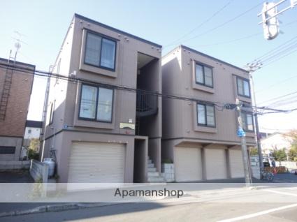 北海道札幌市東区、環状通東駅徒歩8分の築20年 3階建の賃貸アパート