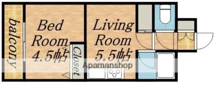 北海道札幌市中央区南六条西8丁目[1DK/29.5m2]の間取図