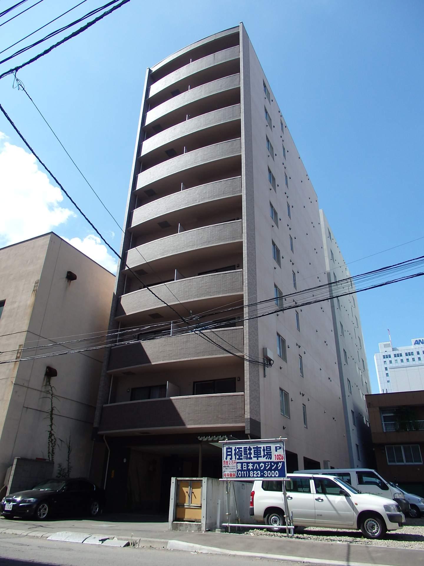 北海道札幌市中央区、バスセンター前駅徒歩8分の築11年 10階建の賃貸マンション