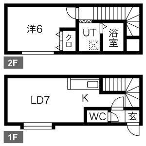 メゾンパークス南28[1DK/33m2]の間取図