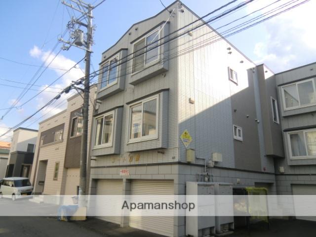 北海道札幌市中央区、幌平橋駅徒歩15分の築23年 3階建の賃貸アパート