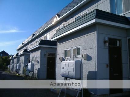 北海道札幌市南区、真駒内駅じょうてつバスバス20分藤野3−8下車後徒歩2分の築21年 2階建の賃貸テラスハウス