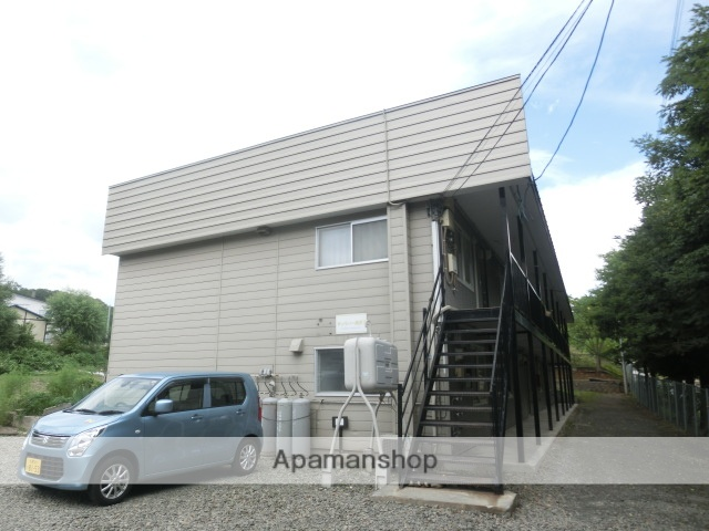 北海道札幌市南区、真駒内駅じょうてつバスバス16分南沢4-2下車後徒歩2分の築24年 2階建の賃貸アパート