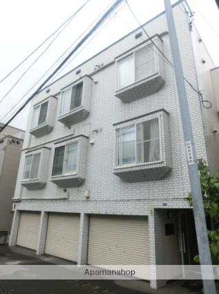 北海道札幌市南区、自衛隊前駅徒歩5分の築28年 3階建の賃貸アパート
