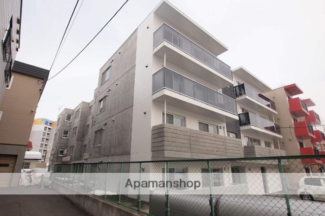 北海道札幌市豊平区、平岸駅徒歩18分の新築 4階建の賃貸マンション