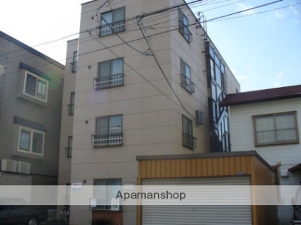 北海道札幌市西区、発寒中央駅徒歩15分の築35年 4階建の賃貸マンション