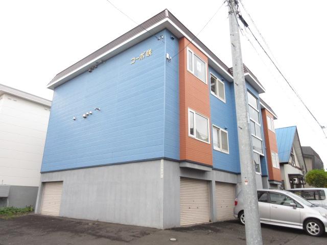 北海道札幌市西区、発寒中央駅JRバスバス16分西野3−6下車後徒歩1分の築22年 3階建の賃貸アパート