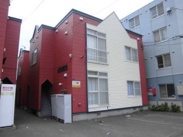 北海道札幌市西区、発寒駅徒歩13分の築23年 2階建の賃貸アパート