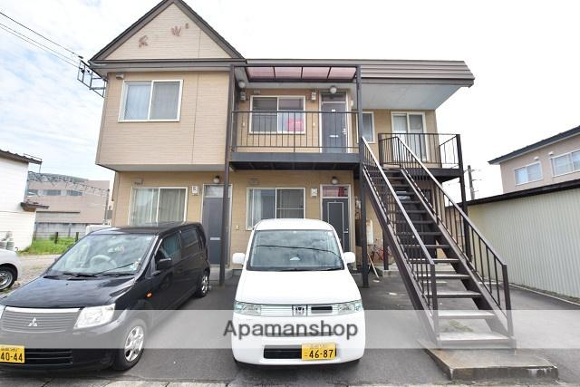 北海道北斗市、七重浜駅徒歩2分の築23年 2階建の賃貸アパート