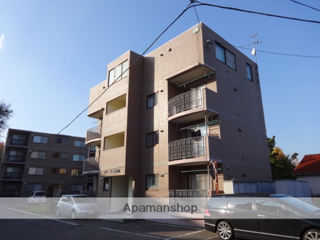 北海道函館市、湯の川駅徒歩9分の築17年 4階建の賃貸マンション