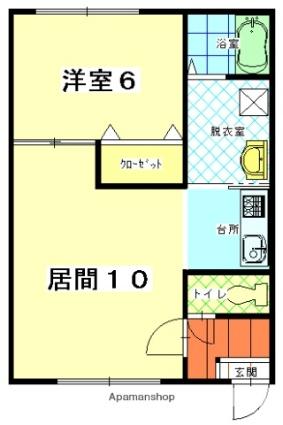 ハーモネートタウンⅣ[1LDK/41.32m2]の間取図