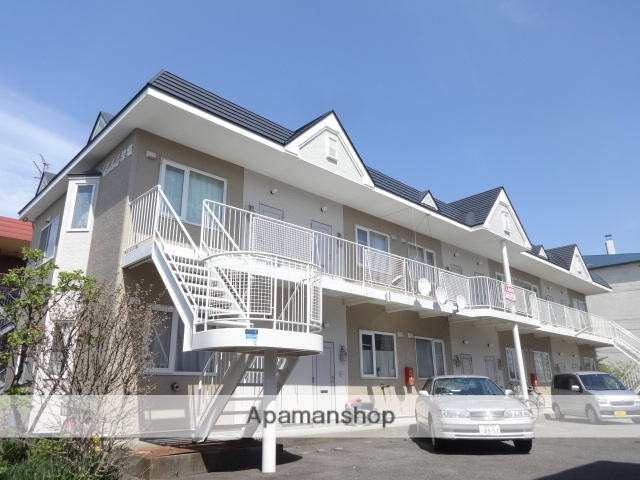 北海道函館市、競馬場前駅徒歩9分の築24年 2階建の賃貸アパート