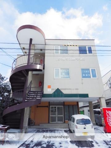 北海道函館市、深堀町駅徒歩10分の築26年 3階建の賃貸アパート
