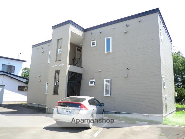 北海道亀田郡七飯町、桔梗駅徒歩12分の築18年 2階建の賃貸アパート