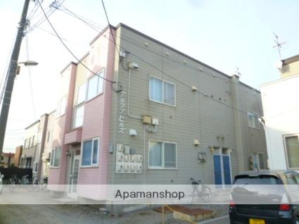 北海道函館市、五稜郭公園前駅徒歩15分の築38年 2階建の賃貸アパート
