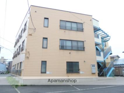 北海道函館市、千歳町駅徒歩6分の築35年 3階建の賃貸アパート
