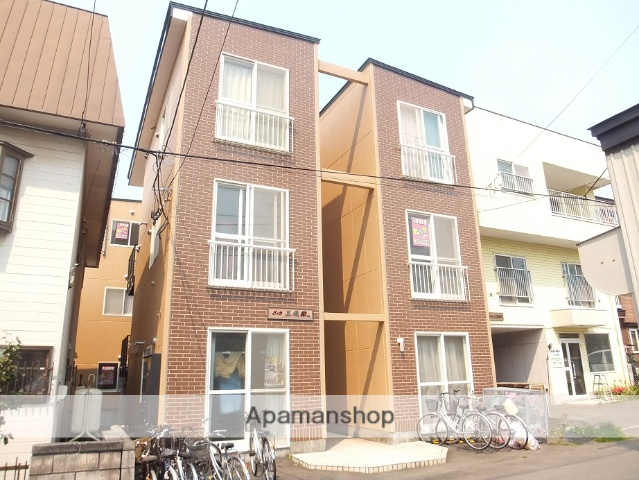 北海道函館市、杉並町駅徒歩15分の築25年 3階建の賃貸アパート