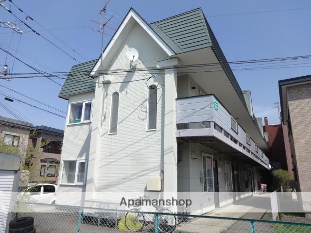 北海道函館市、函館駅バス40分五稜郭駅前下車後徒歩11分の築22年 2階建の賃貸アパート