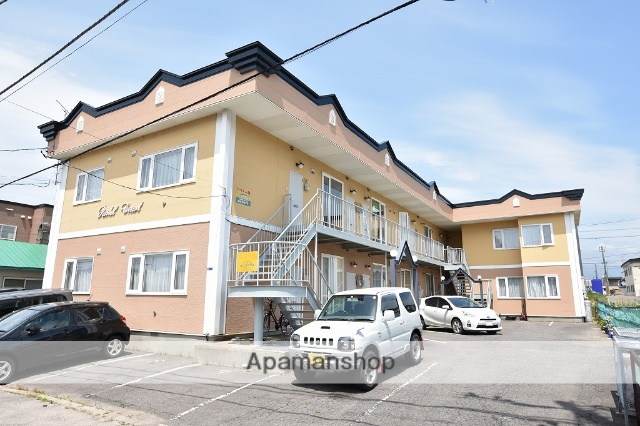 北海道函館市、七重浜駅徒歩14分の築26年 2階建の賃貸アパート