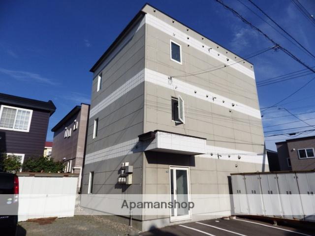 北海道北斗市、七重浜駅徒歩11分の築18年 3階建の賃貸アパート