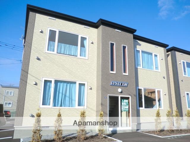 北海道北斗市、東久根別駅徒歩17分の築1年 2階建の賃貸アパート