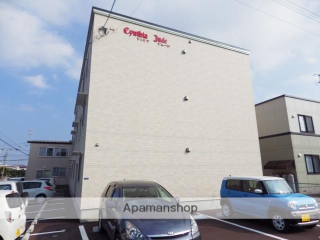 北海道函館市、競馬場前駅徒歩16分の築1年 3階建の賃貸アパート